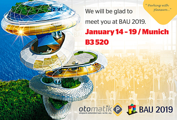 Parkolay will attend to Bau 2019 Munich on 14 to 19 January 2019...