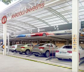 Anadolu University, Eskişehir, Parkonfor 11 Semi Automated Car Parking System without Pit