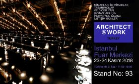 We are at ARCHITECT@WORK Istanbul 2018 Exhibition...